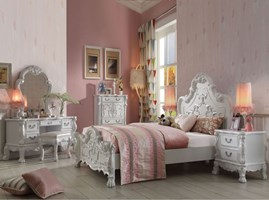 Pisa Youth Bedroom Set in Antique White