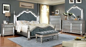 Sadao Bedroom Set in Silver
