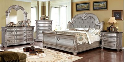 Siena Bedroom Set in Champagne
