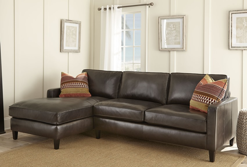 Anguilla Leather Sectional