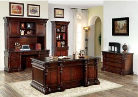 Texas Computer Desk Set with Hutch