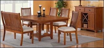 tulsa mission style dining room set