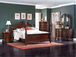 Turin Bedroom Set with Poster Bed