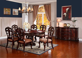 Turin Round to Oval Formal Dining Room Set