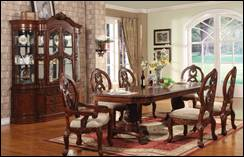 Turnbridge Formal Cherry Dining Room Set with Pedestal Table