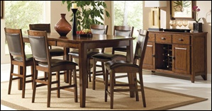 Vicksburg Oak Pub Table Set