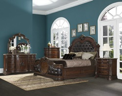 Victoria Bedroom Set in Brown