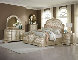 Victoria Bedroom Set in Champagne